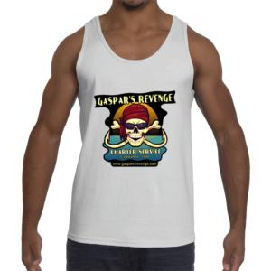 Gaspar's Revenge men's white tank top