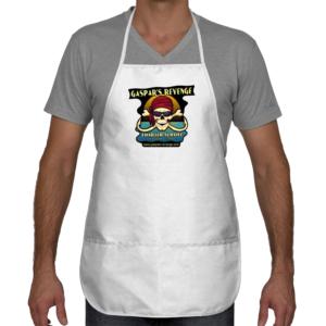 gaspar's revenge white cooking apron