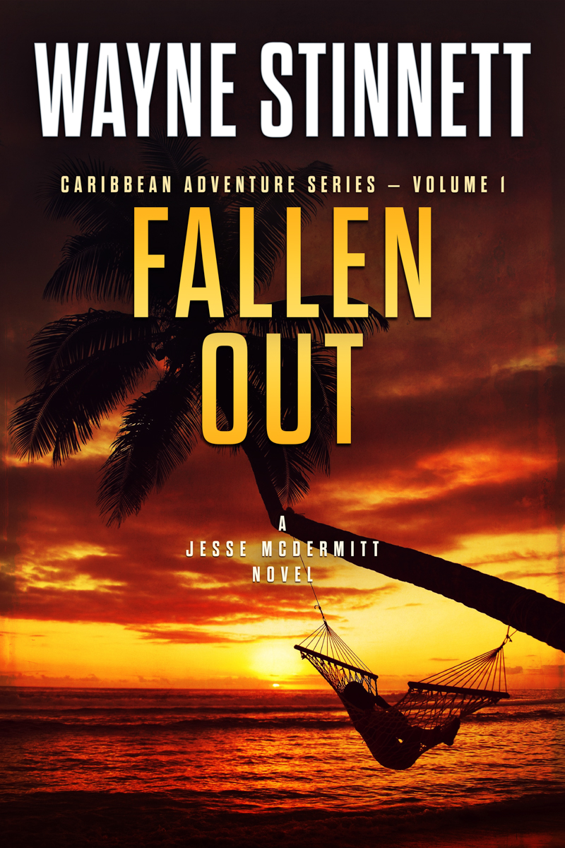 The book cover of Wayne Stinnett's novel, Fallen Out
