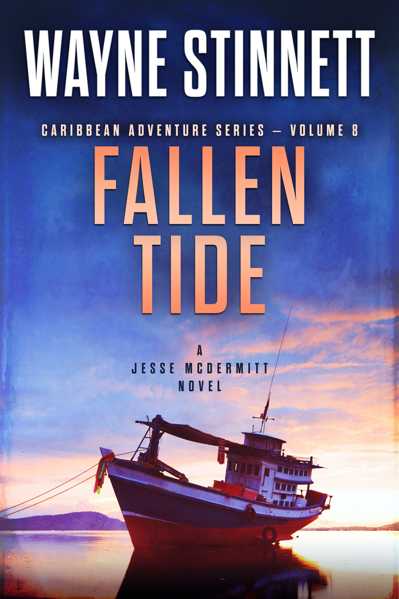 The book cover of Wayne Stinnet's novel, Fallen Tide