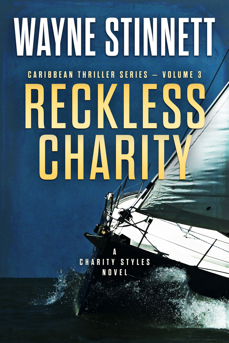The book cover of Wayne Stinnet's novel, Reckless Charity