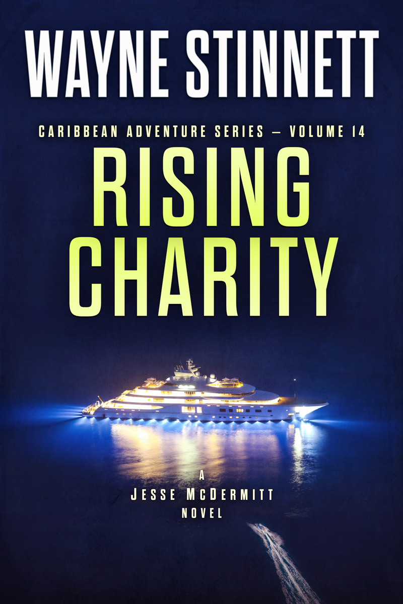 The book cover of Wayne Stinnet's novel, Rising Charity