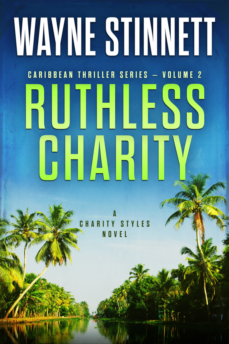 The book cover of Wayne Stinnet's novel, Ruthless Charity