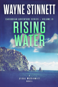 The cover of Wayne Stinnett's novel, Rising Water
