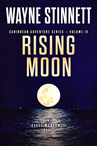 Book Cover of Rising Moon by Wayne Stinnett