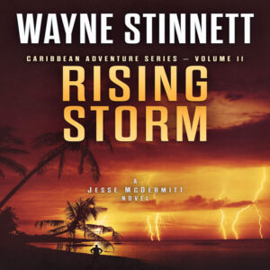Book cover of Rising Storm by Wayne Stinnett